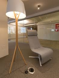 Teknion Chairs Teknion Zones Solo Lounge Chair And Wood Floor Lamp Neocon 2016