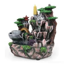fountain for home decoration 110v 220v resin decoration rockery decorative indoor water