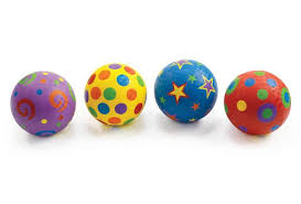 Set Of 4 Excellerations Whimsical Playground Balls 5 Set Of