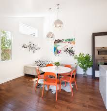 wall art for dining room dining room contemporary with orange