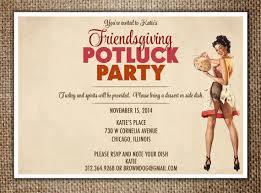 thanksgiving invitation friendsgiving potluck