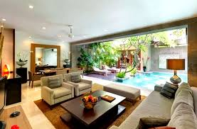 Villa Interior Design Ideas Modern Living Room With View On Pool Places I Would Like To Go
