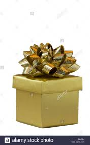 gold foil gift boxes gold foil gift box with ribbon against a white background stock