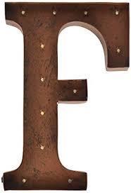 metal letters home decor amazon com