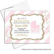 pink and gold baby shower invitations best gold and pink shower invitations products on wanelo