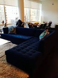 navy blue leather sectional sofa home furniture design ideas