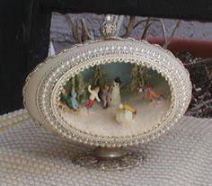 blown egg ornaments aquarium egg great diorama i dioramas