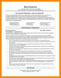 resume format for cost accountants association in united project accountant resume
