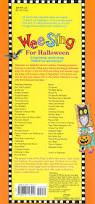 Romantic Halloween Poems Wee Sing For Halloween Pamela Beall Susan Hagen Nipp Songs