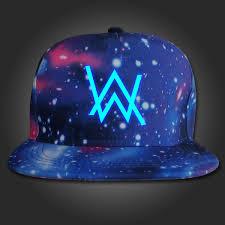 Alan Walker Walker Fade Logo Cap Hat Snapback Adjustable Galaxy Glow In The