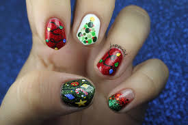 the one with all the christmas decorations finger painted