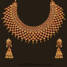 gold choker necklace sets images This gorgeous 22 karat gold choker necklace set with earrings is jpg