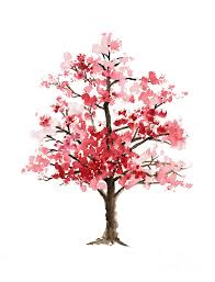 cherry blossom tree minimalist watercolor painting painting by