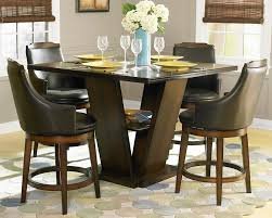 white counter height kitchen table and chairs dining room round marble top dining table black marble top dining