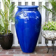 sumida gawa pottery tall outdoor large glazed ceramic planter