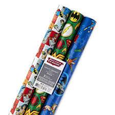 hallmark justice league wrapping paper rolls walmart