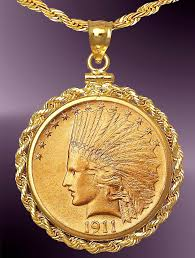 necklace pendant coin images Dollar indian head gold coin necklace nrr8 de10 24c8 jpg