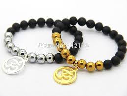 beads bracelet designs images New design beaded men 39 s jewelry matte agate beads with silver and jpg
