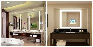 Mirror Tv Bathroom Tv In Mirror Bathroom Lighted Mirrors Tv Bathroom Mirror Price