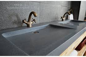 wide basin bathroom sink 63 trough sink gray granite double bathroom sinks stone folege