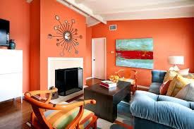 room colour combination orange color scheme for narrow living room with unique wall mirror
