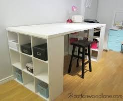 diy craft table ikea craft desk with storage damescaucus com