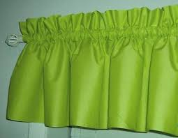 Lime Green Valances Solid Lime Green Valance Curtain Window Treatment 58 Inches Wide