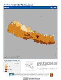 Nepal On Map Maps Population Density Grid V1 Sedac