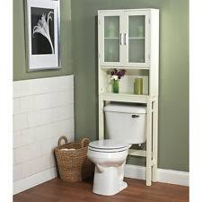bathroom cabinet frosted pane shelf over toilet space saver