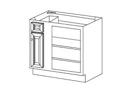 unfinished blind base cabinet walnut raised panel blind base corner cabinet in stock kitchens