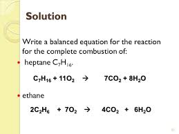 images of equation for combustion of propane