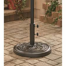 Castlecreek Patio Furniture by Castlecreek Bronze Patio Umbrella Base 231571 Patio Umbrellas