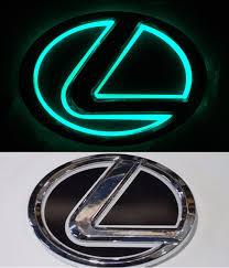 lexus rx450h singapore 5dled car logo auto badge emblems green light for lexus ls270