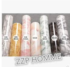 qoo10 thick marble decoration stickers pvc self adhesive
