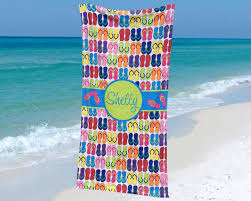 flip flop towel towel with flip flop design personalized with name one