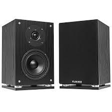 fluance sx6 bk high definition two way bookshelf loudspeakers