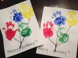 dad card ideas kids craft handprint balloon birthday cards kids pinterest