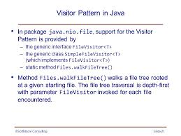 pattern java file the visitor pattern behavioral softmoore consultingslide ppt download