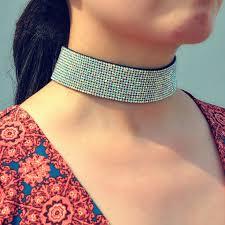 rhinestone choker collar necklace images Women luxury jewelry velvet full diamond crystal rhinestone choker jpg