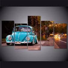 2017 volkswagen beetle car home decor hd printed modern art