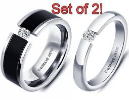 his and rings set promise ring set promise rings for couples his and promise