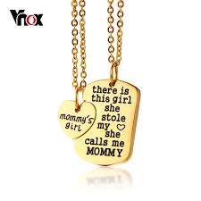 Necklace Engraving Aliexpress Com Buy Vnox Free Engraving Name Heart Pendant For