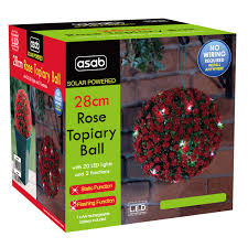 battery powered hanging l solar powered 28cm led topiary ball hanging led rose garden light