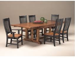 rustic mission dining room furniture black and rustic curved slat