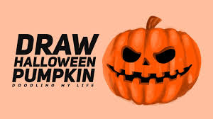 Halloween Pumpkin Drawings Draw 42 How To Draw A Halloween Pumpkin Draw Doodle Character