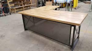 L Shaped Metal Desk Black Metal L Shaped Desks Leandrocortese Info