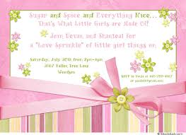 sugar and spice and everything baby shower baby shower invitation pink green sprinkle