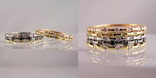 coloured wedding rings images 18ct gold stacking coloured diamond rings ring jewellery jpg
