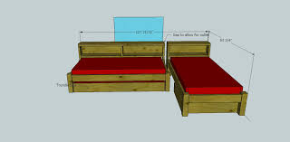 Plans For Bunk Bed With Trundle by Ana White Cozy Corner Twin Bed Collection Wide Bookcase Unit