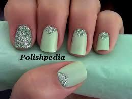 fabulous nail art with triangular glitter trendy mods com